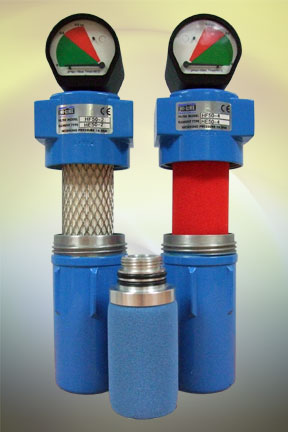 Typical filter housing and element assemblies from Hi-line Industries Ltd
