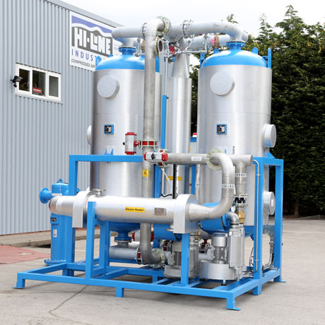 One of the HBP-ZL blower programme models from Hi-line Industries Ltd, which feature zero-loss desiccant during their automated drying programme