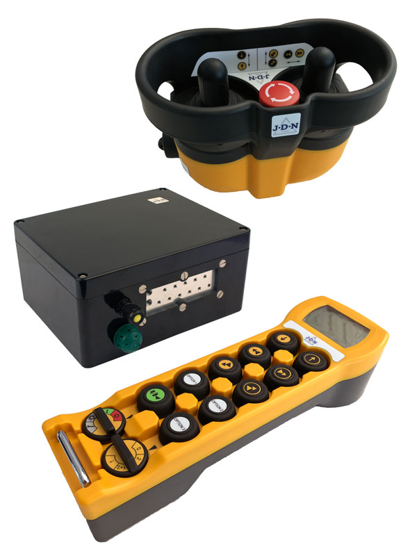 The RC-S and RC-SP radio control remote control transmitters and receiver from J D Neuhaus, for the safe and convenient control of hoists and cranes